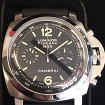 Panerai Luminor 1950 3 Days Chrono Flyback Stål 44mm Svart Arabiska