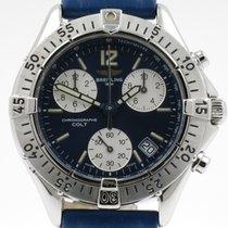 Breitling Colt Chronograph Staal 38mm Blauw Geen cijfers Nederland, Nijmegen  (www.horloge-sieraden.nl)