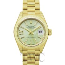 Rolex Lady-Datejust Zuto zlato 28mm Zelen