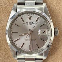 Rolex Oyster Perpetual Date tweedehands 34mm Grijs Datum Staal