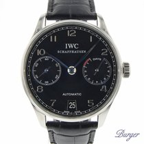 IWC Portuguese Automatic Steel 42.3mm Black Arabic numerals