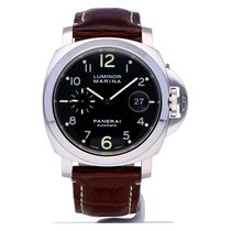 Panerai Luminor Marina Automatic Steel 44mm Black Arabic numerals