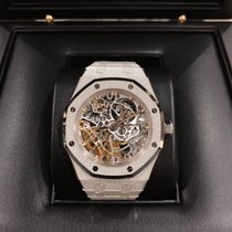 爱彼 Royal Oak Double Balance Wheel Openworked 15466BC.GG.1259BC.01 全新 白金 37mm 自动上弦