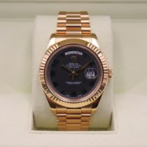 Rolex Day-Date II Yellow gold 41mm Brown Roman numerals