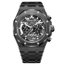 Audemars Piguet Royal Oak Offshore Tourbillon Chronograph Keramiek 44mm Zwart