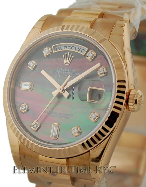 c34a45f5b98 Rolex Day-Date President Tahitian Mother Of Pearl Diamond Dial for $31,350  for sale from a Trusted Seller on Chrono24