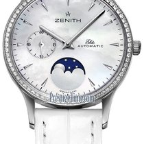 Zenith Steel Automatic Mother of pearl 33mm new Elite Ultra Thin