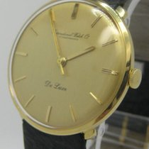 IWC pre-owned Manual winding 34mm Gold Plexiglass Not water resistant