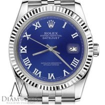 Rolex Lady-Datejust Steel 26mm Blue Roman numerals United States of America, New York, New York