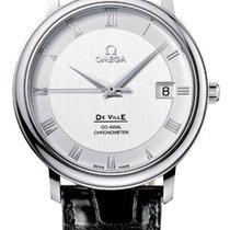 Omega De Ville Prestige Stainless Steel Silver Dial Mens Watch
