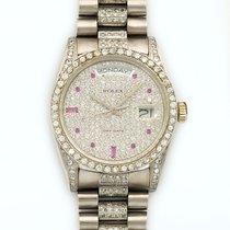 Rolex Day-Date President 36mm 18K White Gold Automatic Diamonds