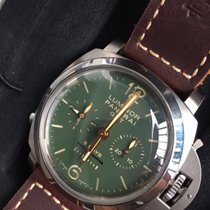 Panerai Luminor 1950 Chrono Monopulsante 8 Days GMT Titanio...