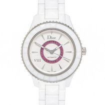 Dior VIII White Ceramic and Rubies Ladies Watch CD1245E8C001