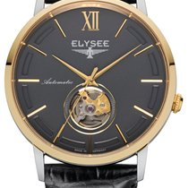 Elysee Steel Automatic Grey No numerals 41,5mm new