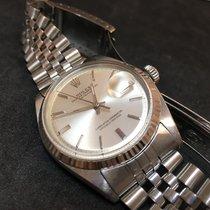 Rolex Datejust - 1603 - Silver Dial - Watch + Box - Jubileee 1969