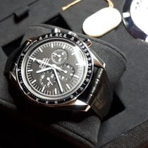 Omega Speedmaster Professional Moonwatch with leather strap