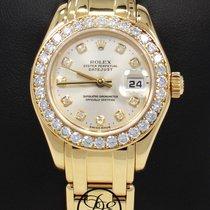 Rolex Masterpiece Pearlmaster 80298 18k Gold Factory Diamonds...
