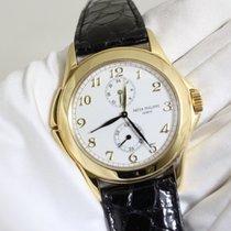 Patek Philippe Travel Time Gelbgold 37mm Weiß Arabisch Schweiz, Lugano