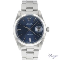 Rolex 34mm Manual winding 1974 pre-owned Oyster Precision Blue