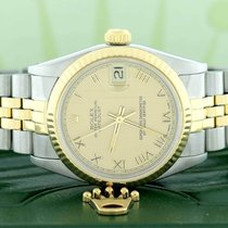 Rolex Lady-Datejust Steel 31mm Champagne Roman numerals