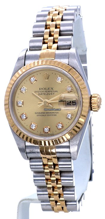 fcf889579494 Rolex Datejust Lady Jubilee Gold Steel Diamond Dial 26mm Full Set for S   6