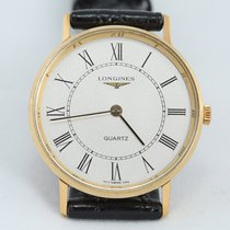 론진 옐로우골드 38mm 쿼츠 Longines Presence Quartz  Watch  717 1140 중고시계 대한민국, Goyang-si