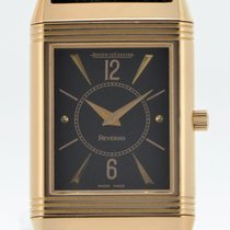 Jaeger-LeCoultre Red gold Manual winding Black 23mm pre-owned Reverso Classique