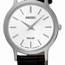 Seiko Solar Steel 26.1mm White