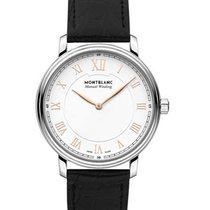 Montblanc Tradition Acero 40mm Blanco Romanos