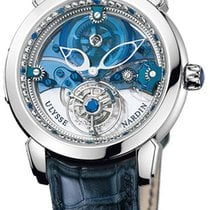 Ulysse Nardin Royal Blue Tourbillon Платина 41mm Синий