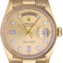 Rolex Day-Date 36 36mm Champagne Sans chiffres