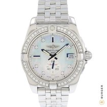 Breitling Steel Automatic Mother of pearl No numerals 36mm pre-owned Galactic 36