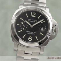 Panerai Acier Remontage automatique Noir 44mm occasion Luminor Marina Automatic