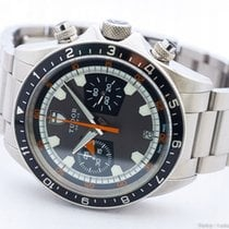 Tudor HERITAGE CHRONO GREY/BLACK 70330B /BOX&PAPERS