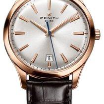 Zenith Captain Elite Central Second 18k Rose Gold Mens Watch...