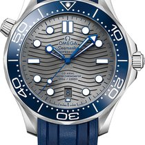 Omega Seamaster Diver 300 M Сталь 42mm Cерый