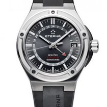 Eterna Royal Kontiki Steel 43mm Black