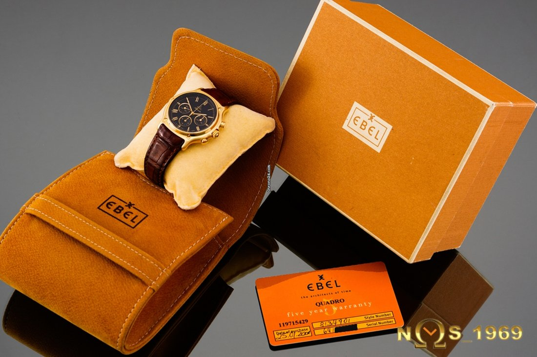 Ebel chronograph k gold box papers for for sale