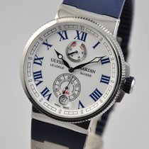 Ulysse Nardin Marine Chronometer Manufacture Steel 43mm White Arabic numerals