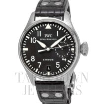 IWC Big Pilot occasion 46mm Noir Date Plis