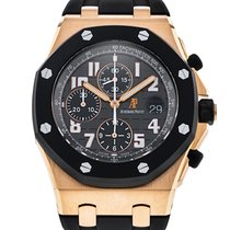 Audemars Piguet Royal Oak Offshore Chronograph Oro rosado 42mm Negro Árabes