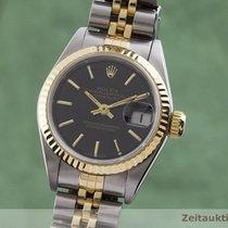 Rolex Lady-Datejust Χρυσός / Ατσάλι 26mm Μαύρο