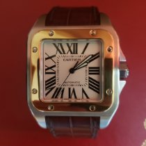 Cartier Santos 100 Золото/Cталь 41mm Белый Римские Россия, Moscow