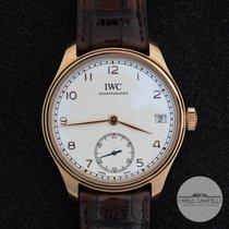 IWC Portuguese Hand-Wound Pозовое золото 43mm Cеребро Aрабские