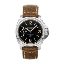 Panerai Steel Automatic Black Arabic numerals 44mm pre-owned Luminor 1950 3 Days GMT Automatic