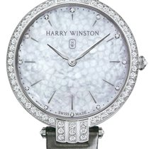 Harry Winston White gold Quartz Mother of pearl 39mm new Premier