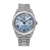 Rolex Day-Date 40 Platinum 40mm Blue Roman numerals United States of America, New York, New York