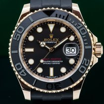 Rolex 116655 Yacht Master 18K Rose Gold / Rubber (26616)