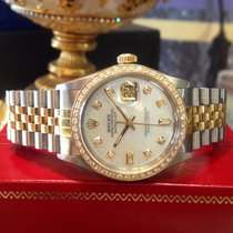 Rolex Oyster Perpetual Datejust Diamonds Yellow Gold And...