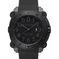 Hamilton Khaki Navy Belowzero 1000m Auto Black Steel/Rubber...